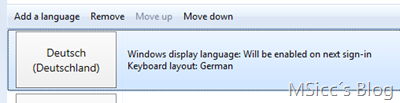 How to change language on W8CP