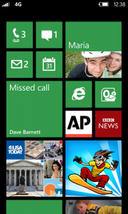Windows Phone 7.8 and 8 Start Screen