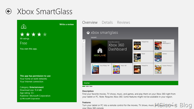 Xbox SmartGlass available on Windows 8 for some, appears to be an update for existing Xbox Companion