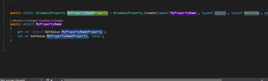 Code Snippets for Xamarin.Forms BindableProperty